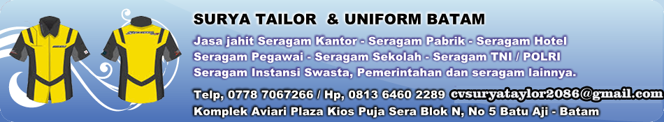 uniform batam surya tailor